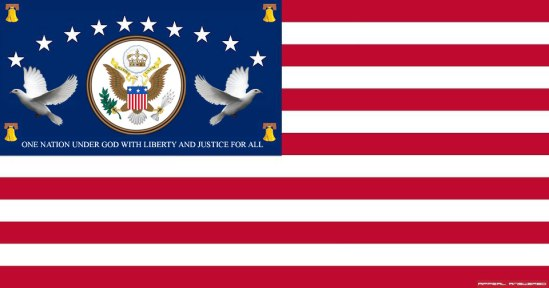 Bill of Rights Flag One Nation Under God Indivisable with Liberty and Justice for All