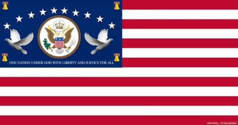 New Glory %22Freedom and Peace%22 the Bill of Rights Flag of the New Kingdom and Soveriegnty of the United States of America's Latte Dei Saints
