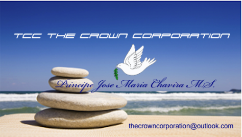 TCC the Crown Corporation Business Card of Company Onwer Prince Jose Maria Chavira MS ™ ABN Washington D.C. District of Columbia in God We Trust