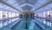 The White House Indoor pool at the Camp David fitness center