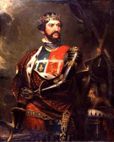 King Edward - The Black Prince of Wales oil on Canvass by Benjamin Burnell, 1820. refrence the Hundred Years War Battle of Poitiers