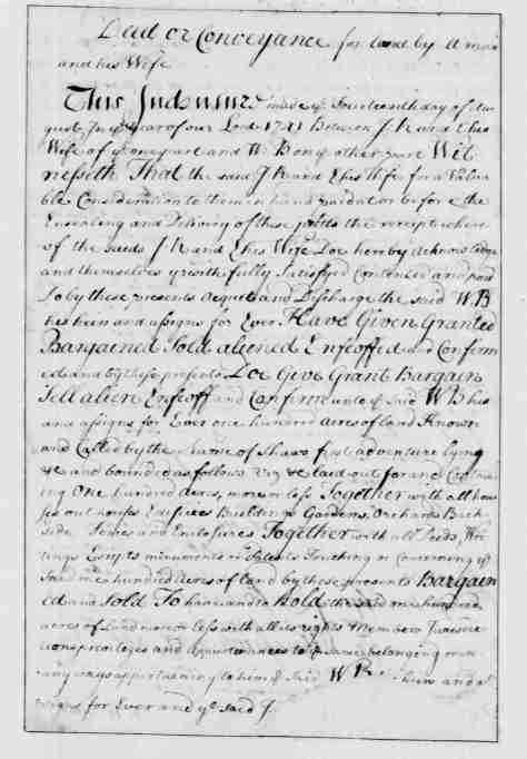 Page 12 American Preservation Society - Entry 11 - a Deed or Conveyance for Land - The new Congressional Library of the Theocracy of the United States of America