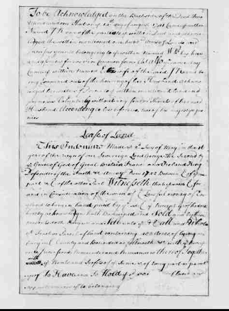 Page 14  Entry 13 - Scale of the Land - by Sovereign George Washington II by the Grace of God King of Great Britain Ireland and France - The Defender of the Faith