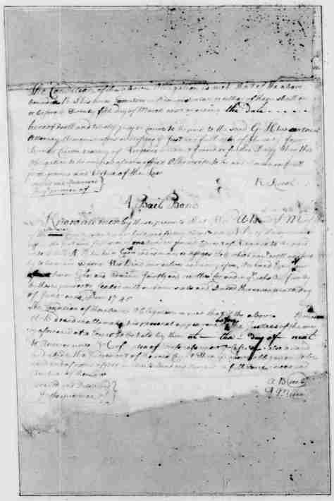 Page 2 American Preservation Society - Bail Bonds - written and compiled by George Washington