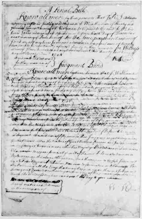 Page 3 American Preservation Society - A Penal Bill a Judgment Bond - written and compiled by George Washington