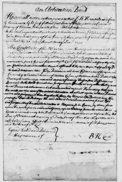 Page 4 American Preservation Society - An arbitration bond - written and compiled by George Washington