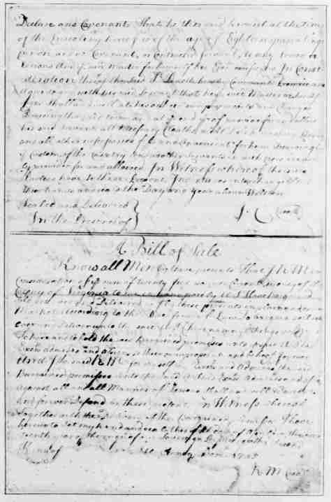 Page 8 American Preservation Society - Declaration of Covenants and a Bill of Sale - written and compiled by George Washington