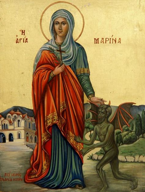 Saint Marina Saint Antioch of France the Vanquisher of Demons the Fallen Sons of God the collect Evil