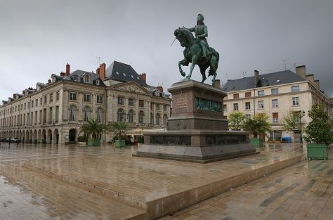 Statue of Joan of Arc, Place du Martroi published by the New Department and Minsitry of Education The United States of America August 28th 2016