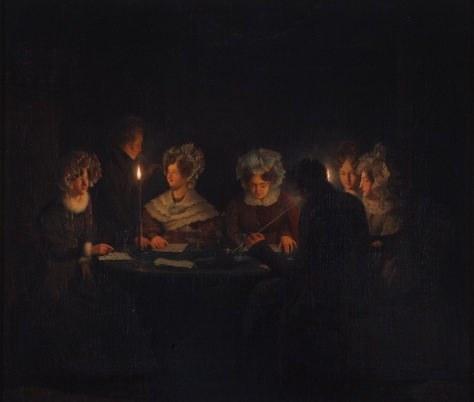 US National Gallery Digital Collection - Oil on Canvas - Illumination Technique Euromasters Petrus Van Schendel 1806-1870 Belgica -Noche de las Mujeres
