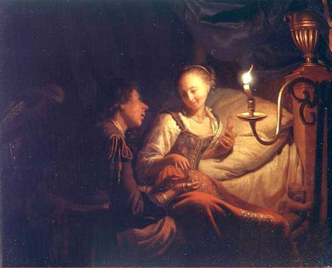 US National Gallery Digital Collection - Oil on Canvas - The Candle and Night Market Art Collection Belgium and Euromas Godfried Schalcken 1643-1706 Oleo Sobre Lienzo -Man asking Woman to marry