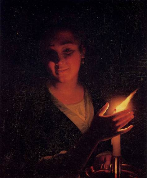 US National Gallery Digital Collection - Oil on Canvas - The Candle and Night Market Art Collection Belgium and Euromasters- 1643-1706 Oleo Sobre Lienzo - Nina con una Vela