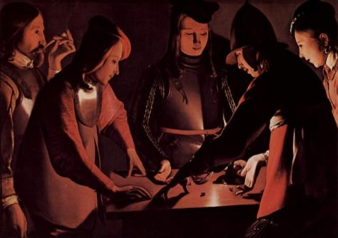 US National Gallery Digital Collection - Oil on Canvas - The Candle and Night Market Art Collection Belgium and Euromasters-Georges de la Tour 1650-1651 los jugadores