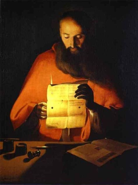 US National Gallery Digital Collection - Oil on Canvas - The Candle and Night Market Art Collection Belgium and Euromasters-Georges de la Tour San Geronemo