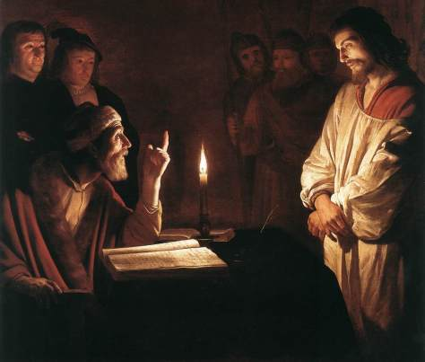 US National Gallery Digital Collection - Oil on Canvas - The Candle and Night Market Art Collection Belgium and Euromasters- Gerrit van Honthorst Jesucristo Acusado ante Caepus