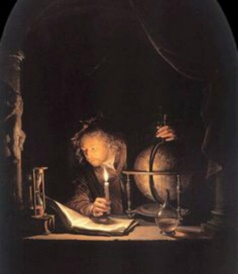 US National Gallery Digital Collection - Oil on Canvas - The Candle and Night Market Art Collection Belgium and Euromasters- Oleo Sobre Lienzo Gerrit Dou -1613-1675 - Pintor Dutch - Astronomo 1650