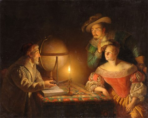 US National Gallery Digital Collection - Oil on Canvas - The Candle and Night Market Art Collection Belgium and Euromasters-Petrus Van Schendel 1806-1870 a night of counsel