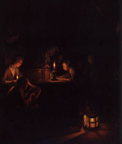US National Gallery Digital Collection - Oil on Canvas - The Candle and Night Market Art Collection Belgium and Euromasters- Rijksmuseum, Amsterdam - Escuela por Noche