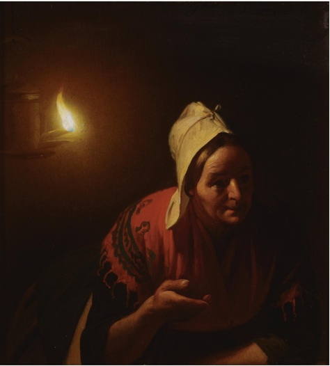 US National Gallery Digital Collection - Oil on Canvas - The Candle and Night Market Art Collection Belgium Petrus Van Schendel 1806-1870 Belgica - Mercado de las Velas no. 44